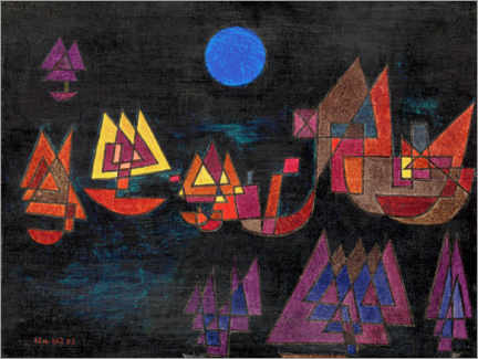Obraz na płótnie  Ships in the dark - Paul Klee