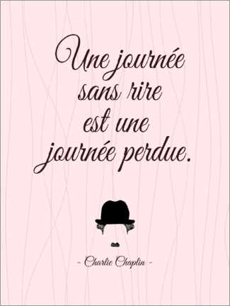 Plakat  A day without laughter (French) - Typobox