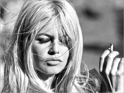 Obraz na aluminium  Brigitte Bardot na wietrze - Celebrity Collection