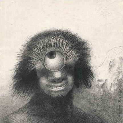 Gallery print  Smiling and Hideous Cyclops - Odilon Redon