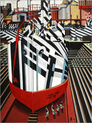 Obraz na płótnie  Dazzle ships in Liverpool's dry dock - Edward Wadsworth