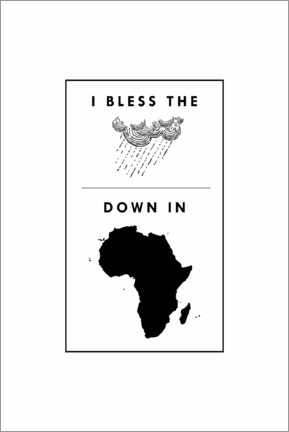 Obraz na drewnie  I bless the rains down in africa - Typobox