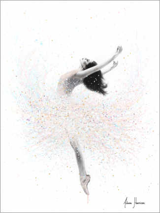 Obraz na drewnie  Ballerina in pastel colors - Ashvin Harrison