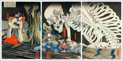 Obraz na płótnie  Takiyasha the Witch and the Skeleton Spectre - Utagawa Kuniyoshi