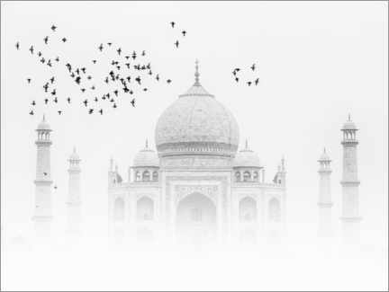 Obraz na płótnie  Birds over the Taj Mahal - Thomas Herzog
