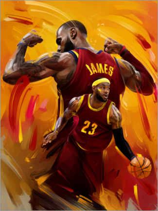 Obraz na aluminium  LeBron James - Dmitry Belov