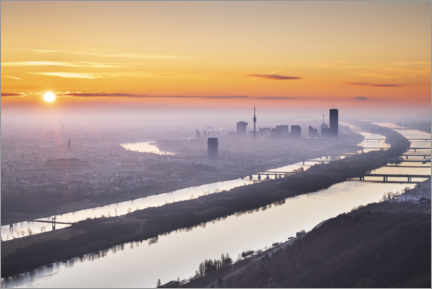 Obraz na PCV  Colorful sunrise over Vienna - The Wandering Soul