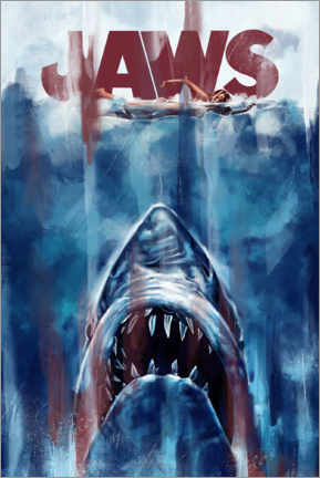 Plakat  Jaws - Dmitry Belov