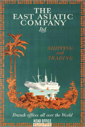 Plakat  The East Asian Company - Travel Collection