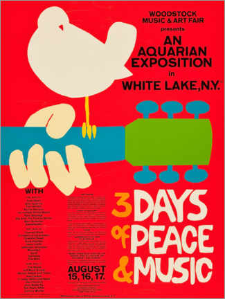 Plakat  Woodstock Festival - Entertainment Collection
