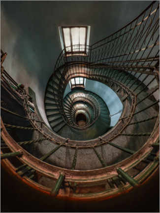 Plakat Blue spiral staircase