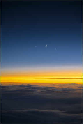 Plakat  Moon, Venus & Jupiter at dusk - Ulrich Beinert