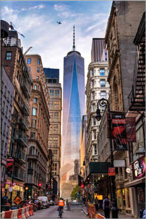 Obraz na drewnie  One World Tower in New York - Mike Centioli