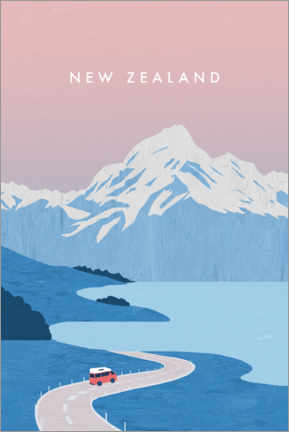 Obraz na płótnie  New Zealand illustration - Katinka Reinke