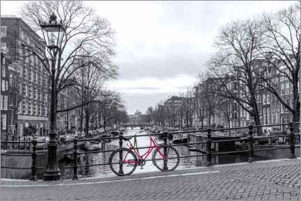 Obraz na płótnie  Red bicycle in Amsterdam - George Pachantouris