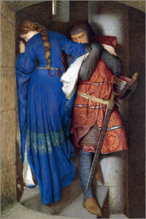 Obraz na płótnie  Meeting on the Turret Stairs - Frederic William Burton