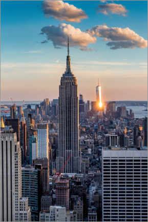 Plakat Empire State Building in the sunset