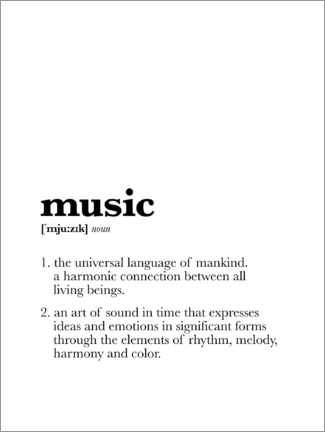 Plakat  Music - Definition - Michael Tarassow
