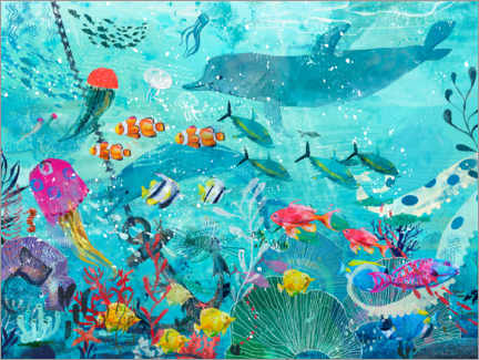 Obraz na aluminium  Colorful underwater world - Kidz Collection