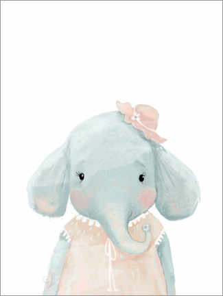 Obraz na aluminium  Miss Elephant - Kidz Collection