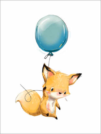 Obraz na płótnie  Little fox with balloon - Kidz Collection