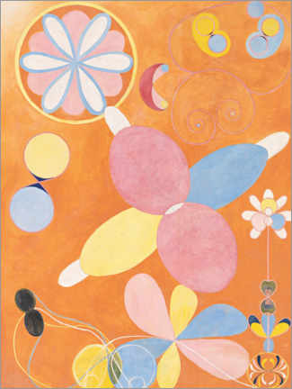 Plakat  The ten largest, No. 4, youth - Hilma af Klint