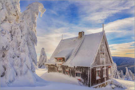 Plakat Hut in the winter country