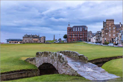Obraz na płótnie  Swilcan Bridge at the Old Course at St Andrews - Mike Centioli