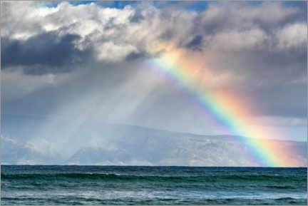 Obraz na płótnie  Rainbow over Molokai, Hawaii, USA - Circumnavigation