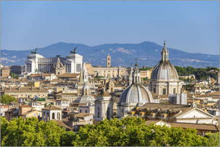 Plakat View over Rome - from Castel Sant'Angelo