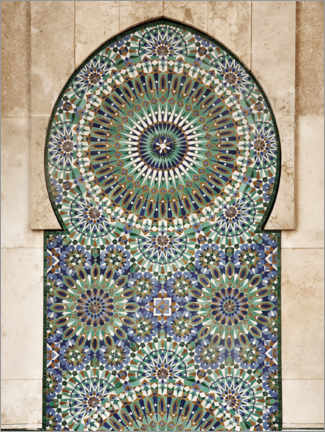 Obraz na aluminium  Decorative, Moroccan mosaic - Art Couture