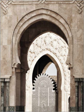 Obraz na płótnie  Arches of the Hassan II Mosque in Morocco - Art Couture