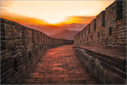 Plakat The Great Wall at the sunset