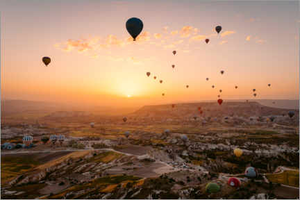 Obraz na płótnie  Hot air balloon flight during sunrise over Cappadocia - Marcel Gross