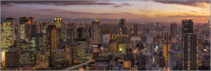 Gallery print  Osaka in the evening - André Wandrei