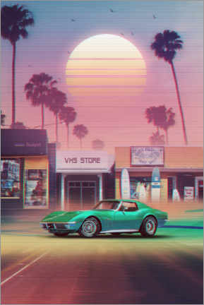 Plakat Synthwave Sunset Drive