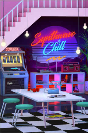 Plakat Synthwave And Chill