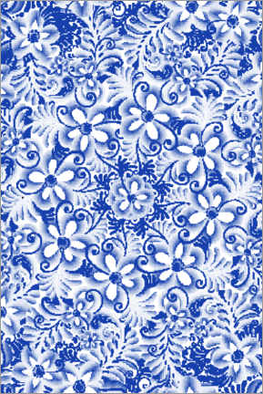 Obraz na drewnie  Delft blue design