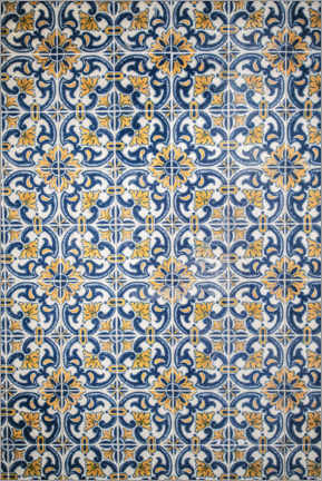 Obraz na aluminium  Azulejos blue-orange