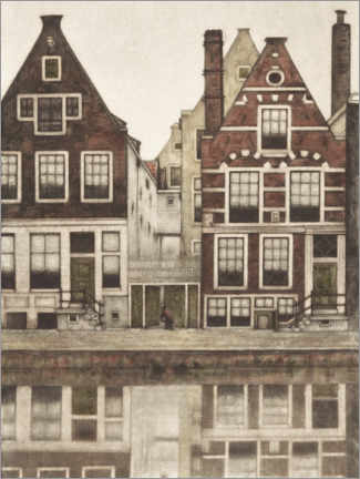 Obraz na płótnie  Houses on the Groenburgwal in Amsterdam - Frans Everbag