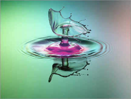 Gallery print  Water drops - dynamic reflection - Stephan Geist