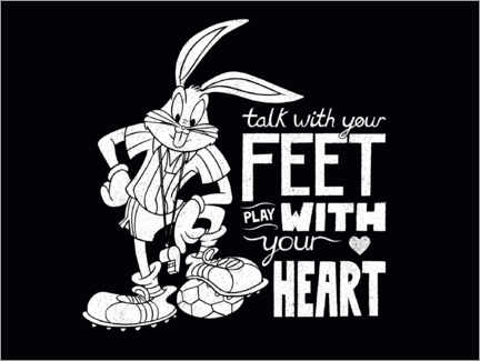Plakat Bugs Bunny - Soccer quote