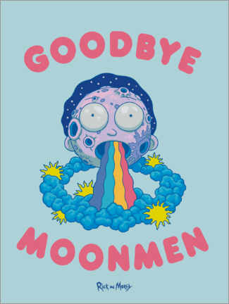 Obraz na drewnie  Rick and Morty - Goodbye Moonmen