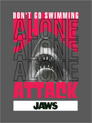 Plakat  Don't Go Swimming Alone