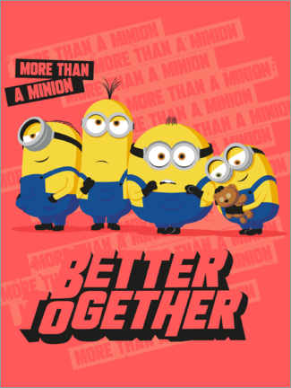 Plakat  Minionki - Better Together