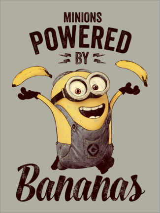 Plakat  Minionki - Powered by Bananas