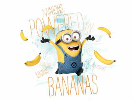 Plakat  Minionki - Banana Power
