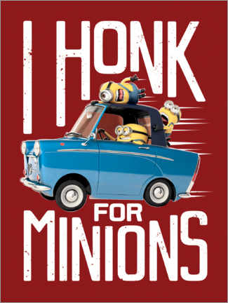 Plakat  I honk for minions