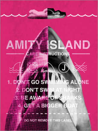 Plakat  Amity Island - Care instructions