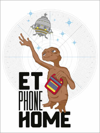 Plakat  E.T. - Phone Home